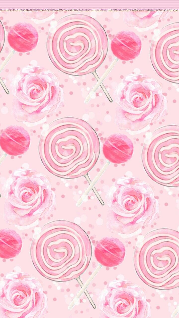 Lollipops And Roses Pink WallpaperHello Kitty WallpaperMobile