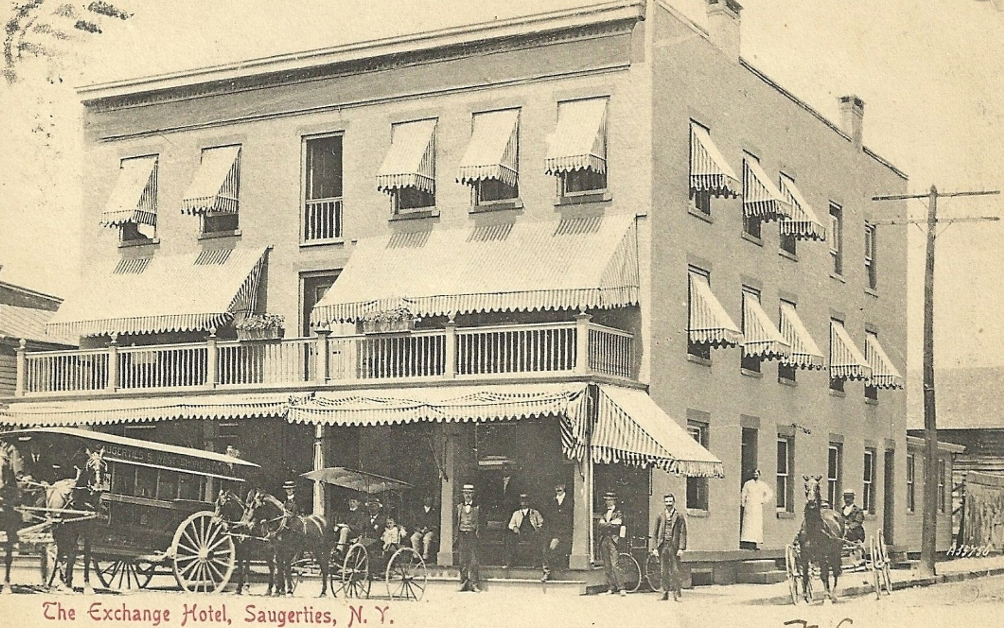 An Old Picture Of The Exchange Hotel Saugerties Ny It Has Been Updated But Still Stands On Corner Main And Parion Streets