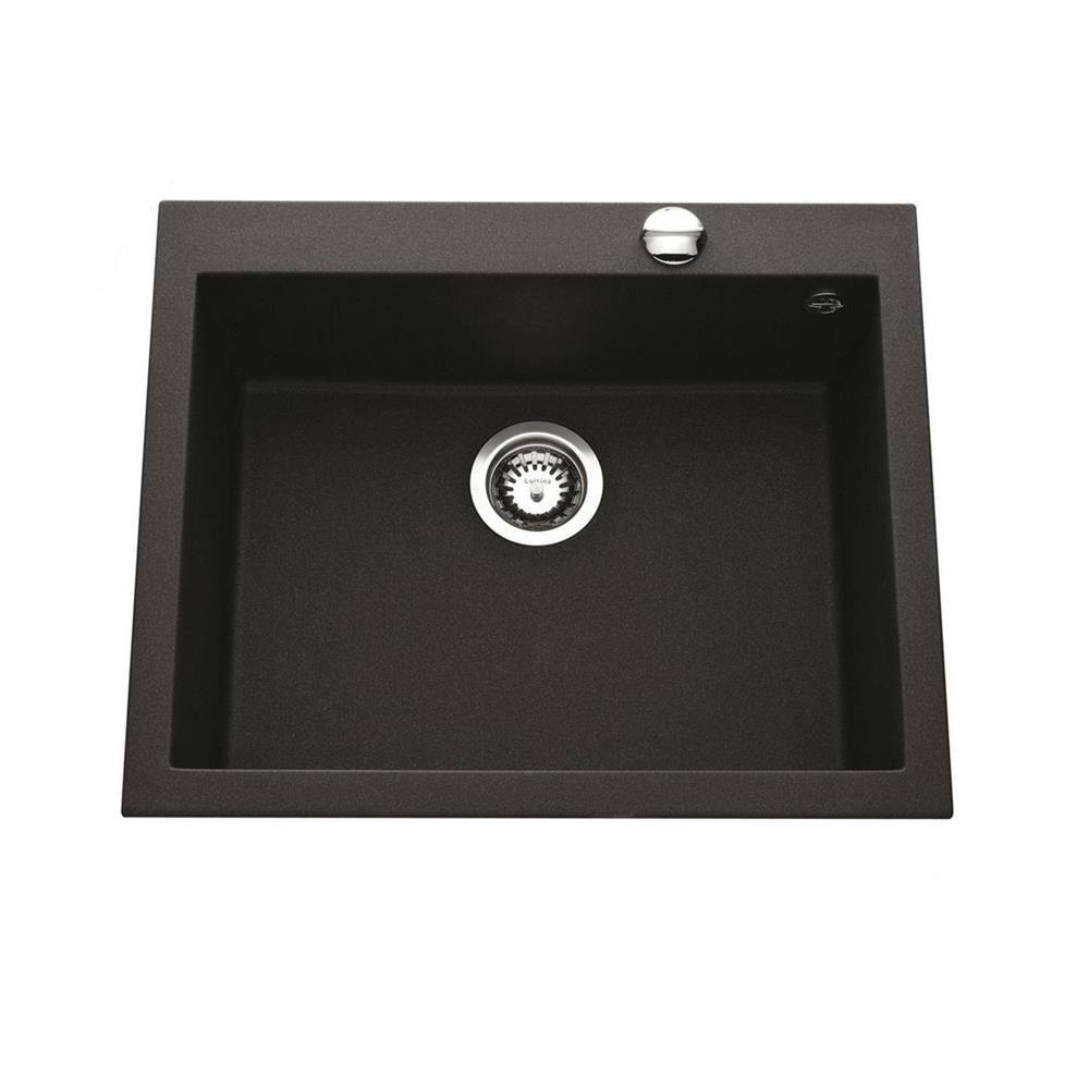 évier Granit Noir Moucheté Ewi Urbia 1 Bac 610x500 Bainissimo
