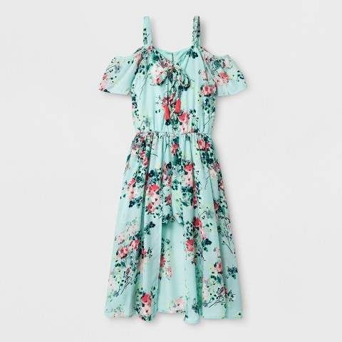2a29af5c6ab12f Lots of Love by Speechless Girls  Floral Cold Shoulder Maxi Rompers - Green   affiliate