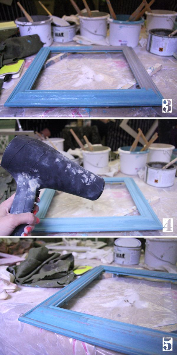 distressed paint effect : DIY distressed picture frame : Ruby Rhino ...