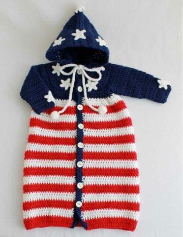 Patriotic Baby Bunting Crochet Pattern Pinterest Baby Bunting