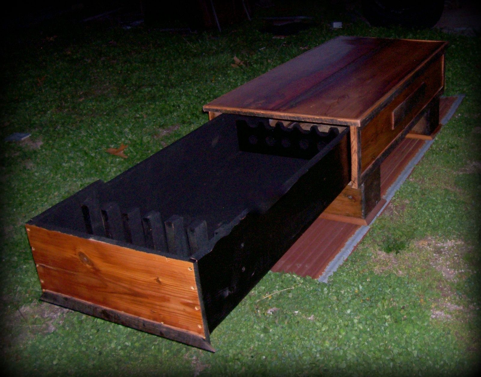 Barn Wood Coffee Table Hidden Gun Cabinet Lodging