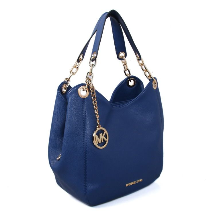 3fd4be1b39 MICHAEL KORS Fulton Large Leather Shoulder Bag Navy Blue  New0007  -  70    Shop Michael Kors