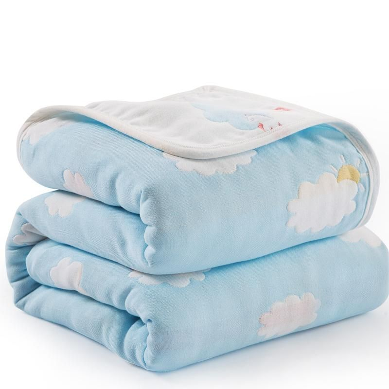 Six Layers Muslin Cotton Swaddle Baby Blanket (120 x 150