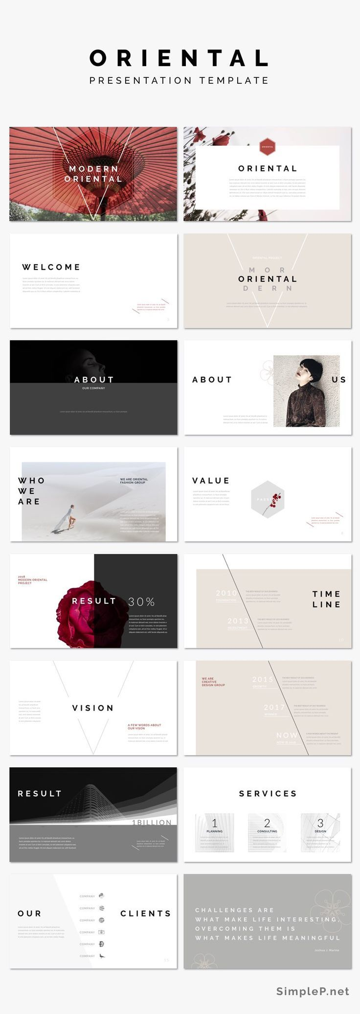 Oriental PowerPoint Template | Marketing proposal, Ppt presentation ...