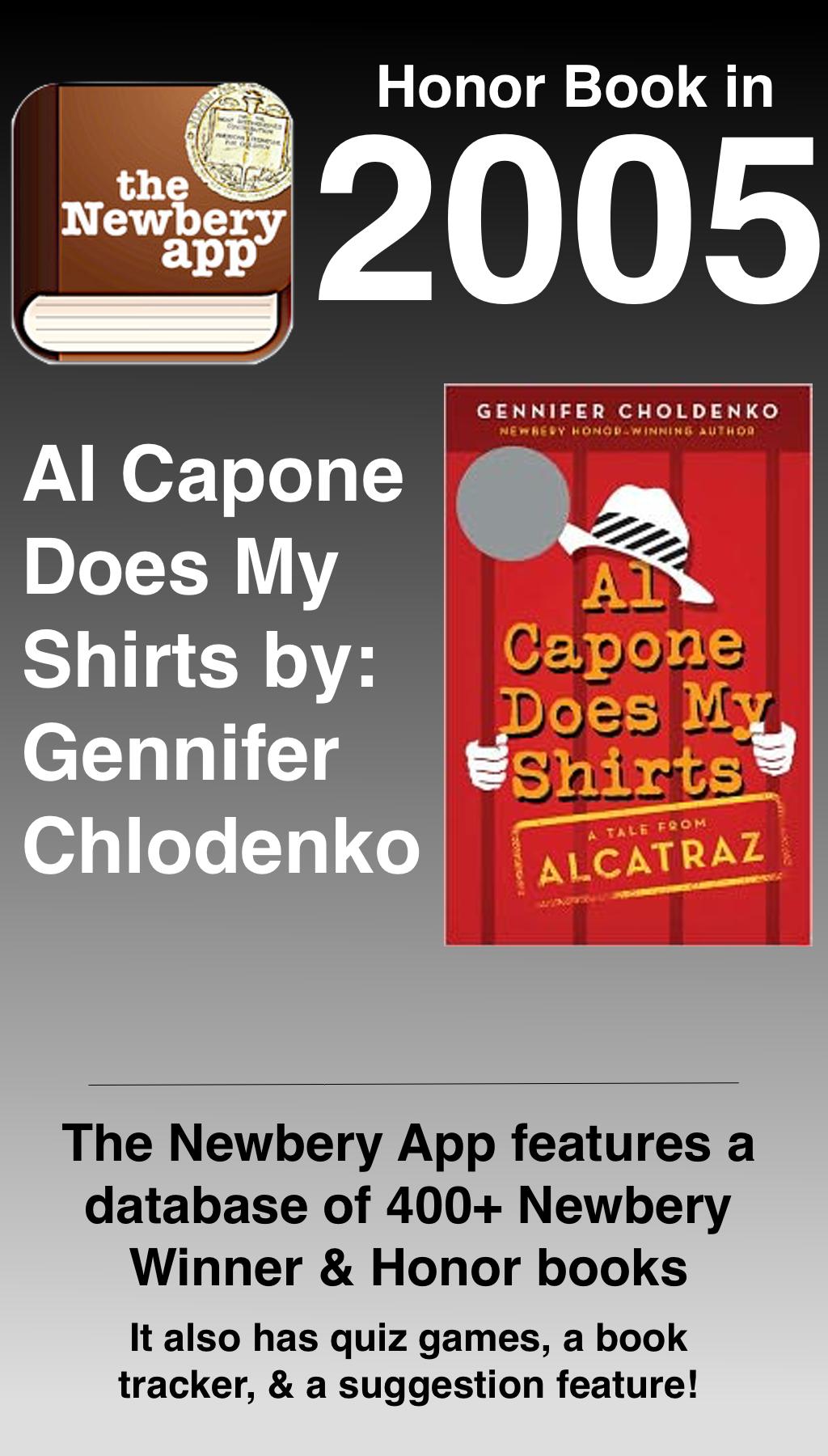 Al Capone Does My Shirts by Gennifer Chlodenko was a