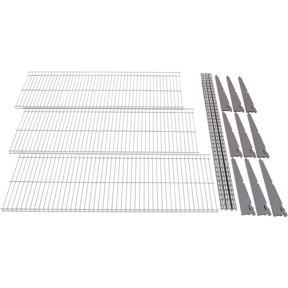 FastTrack Garage 3-Shelf 48 in. x 16 in. Wire Shelving Kit | Shelves