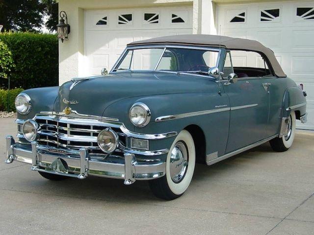 1949 Chrysler Windsor Highlander Convertible With Images