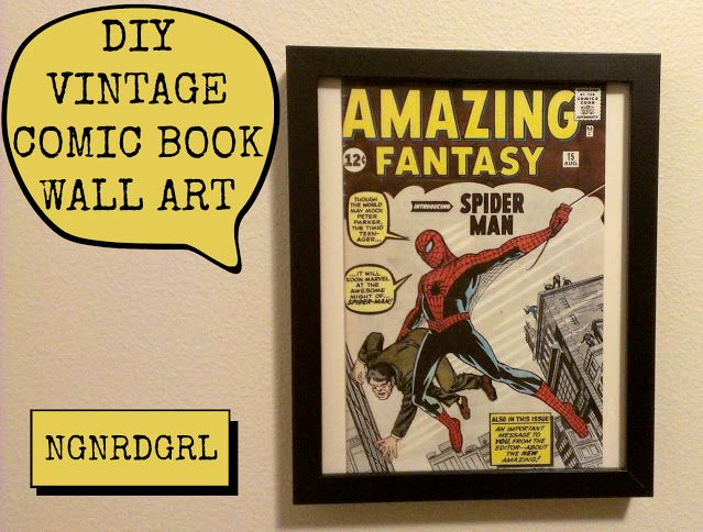 Diy Vintage Comic Book Wall Art Book Wall Art Vintage Comic