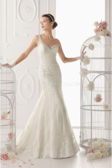 Mermaid One Shoulder A-line Lace Wedding Dresses
