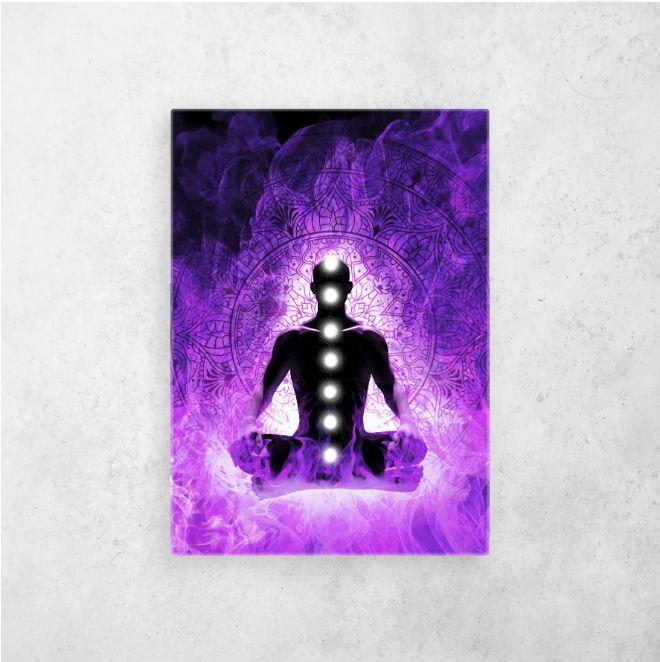 #violetflame #spiritual #espiritualidad #chakras #universe | Displate thumbnail
