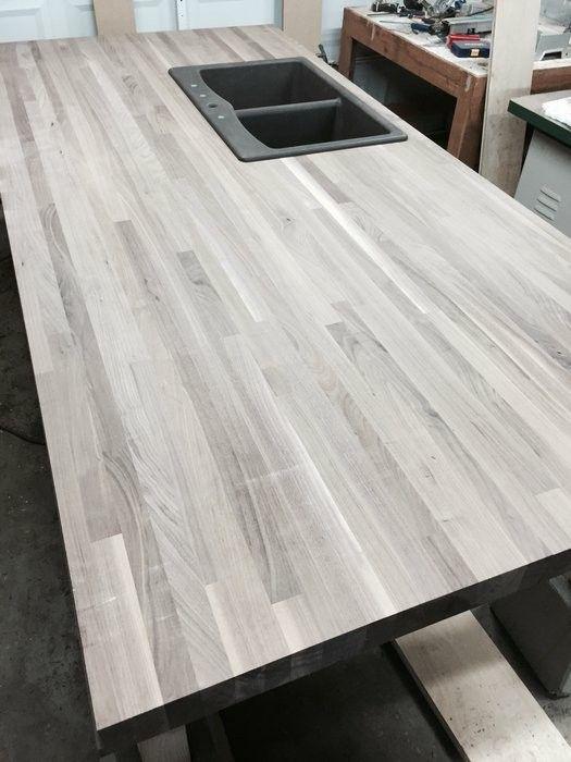 Best Gray Butcher Block Kitchen Makeover Custom Butcher 400 x 300