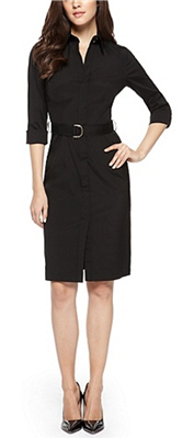 c37bc6153 BOSS Hugo Boss - Dashina Stretch Cotton-Blend Belted Dress: A shirtdress is  not only a key style this season, but an effortlessly chic look for work.