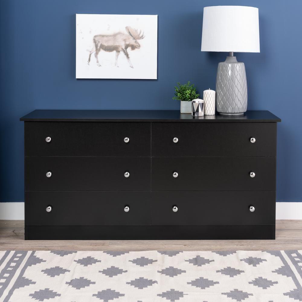 Prepac Edenvale 6 Drawer White Dresser Whd 5828 6k The Home Depot Dresser Furniture Black Dressers Six Drawer Dresser [ 1000 x 1000 Pixel ]
