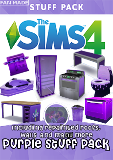 The Sims 4 Fan Made Stuff Pack The Purple Stuff Pack