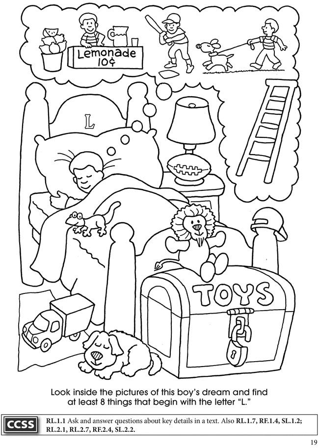 BOOST Alphabet Search Coloring Activity Book Dover