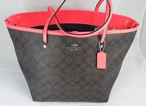 neon pink and brown coach purse - Google Search