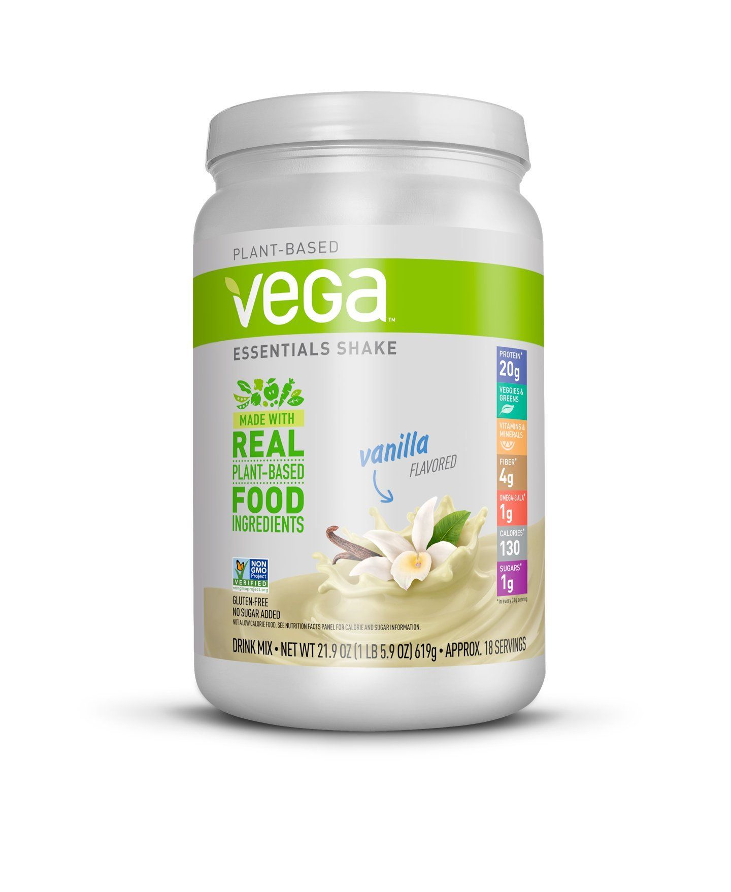 Vega Essentials Shake Vanilla 1 Vegan Protein Powder Vanilla Shake Plant Based Protein Powder