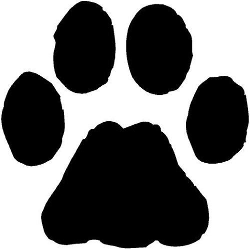 Dog Stencil, Bobcat Pictures, Print