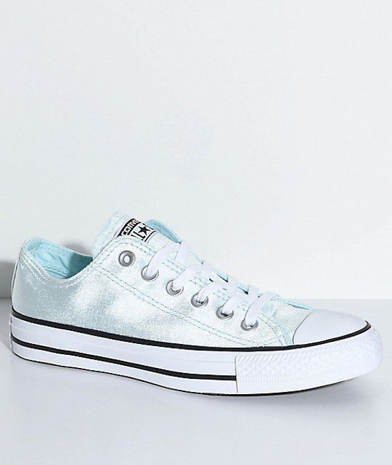 c39b8ae38c38 Baby Blue Converse Velvet Low Top Chuck Taylor Glacier Wedding Bridal Kicks  Sea Foam w  Swarovski Cr