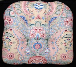 PIER-1-WICKER-CHAIR-CUSHION-LARGE-22-X19-FLORAL-PINK-GREEN-BLUE-BEIGE-1 $29