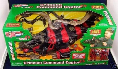GI Joe Vehicle Crimson Command Copter Helicoptor Missile 2003 Original Part