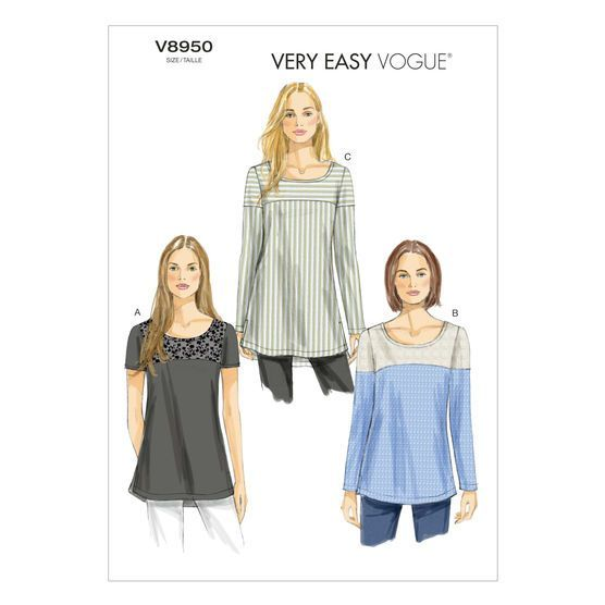 New Vogue V9151 Very Easy PATTERN Size XSM-XXL Misses Tunic