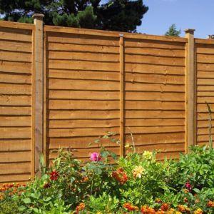 Grange Traditional Overlap Horizontal Slat Fence Panel W 1 83 M