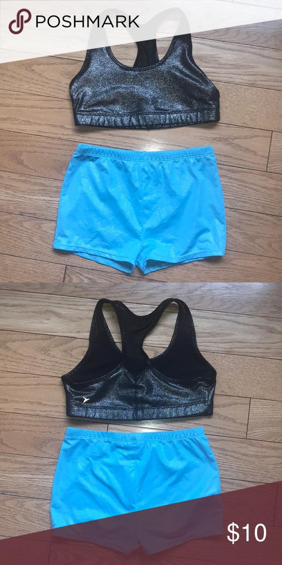 Dance Activewear Set Sports Bra Top & Shorts Activewear