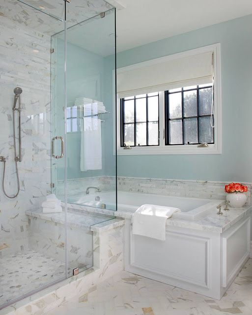 California Dream Beach House With Navy White And Green Decor And Vibrant Pops Of Color Beach House Bathroom Bathroom Design House Bathroom