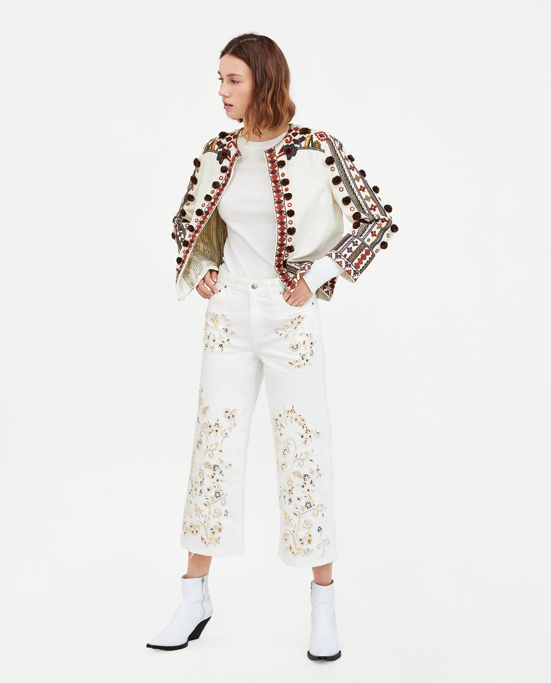 The Western Embroidery Culotte Culottes Fashion Womens