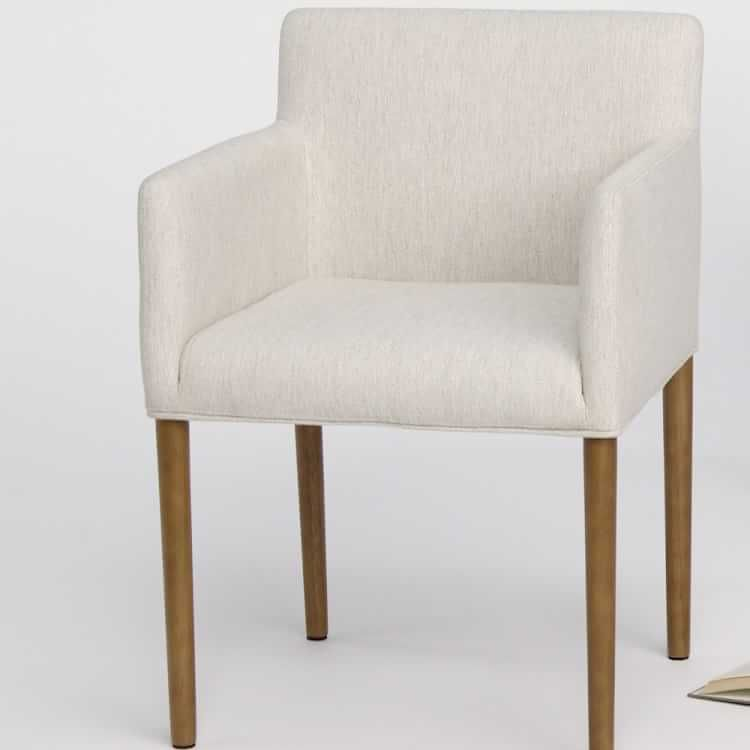 Ellis Upholstered Dining Armchair In 2020 Dining Arm Chair Dining Chairs Upholstered Dining Chairs