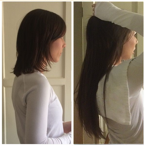 Before And After Soft Bond Hair Extensions Westcoasthair Softbond