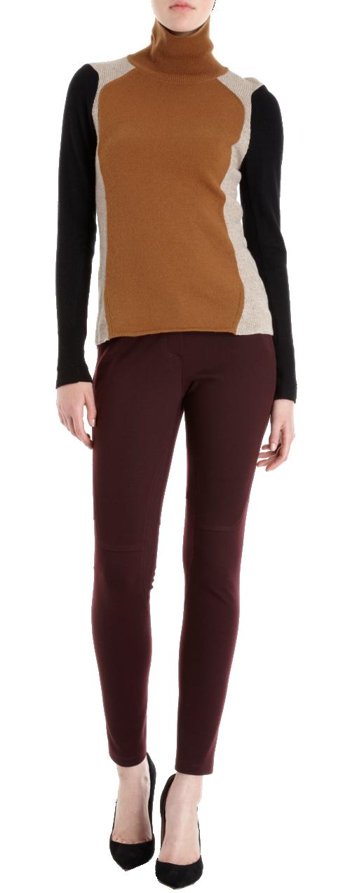 O'2nd Colorblock Turtleneck Sweater