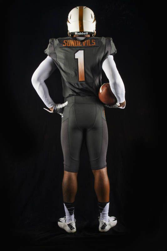 New Asu Football Uniforms Copper And Grey Asu Football College Football Uniforms Football