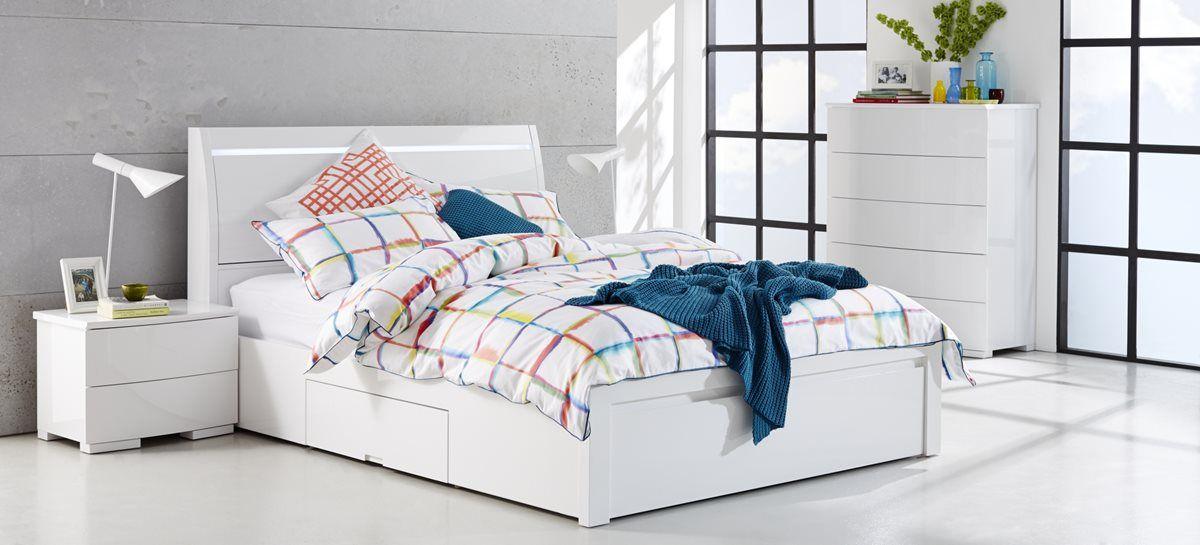 Chicago Bed Frame Gloss White Bedroom Furniture Forty Winks White Gloss Bedroom Furniture Bedroom Furniture Suites White Bedroom Furniture