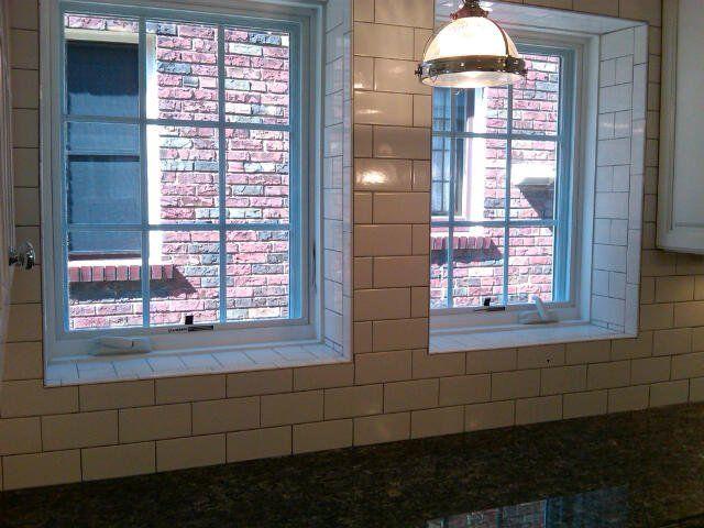 Subway Tile Used As Backsplash And Window Sill Kitchen Redo Windows Kitchen Renovation