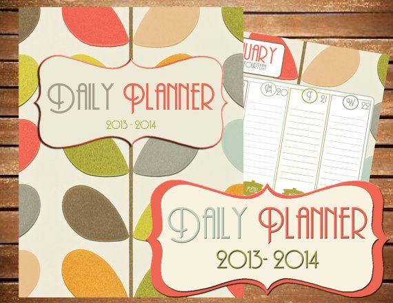 Instant Download - 2014 Printable Planner - Printable Planner