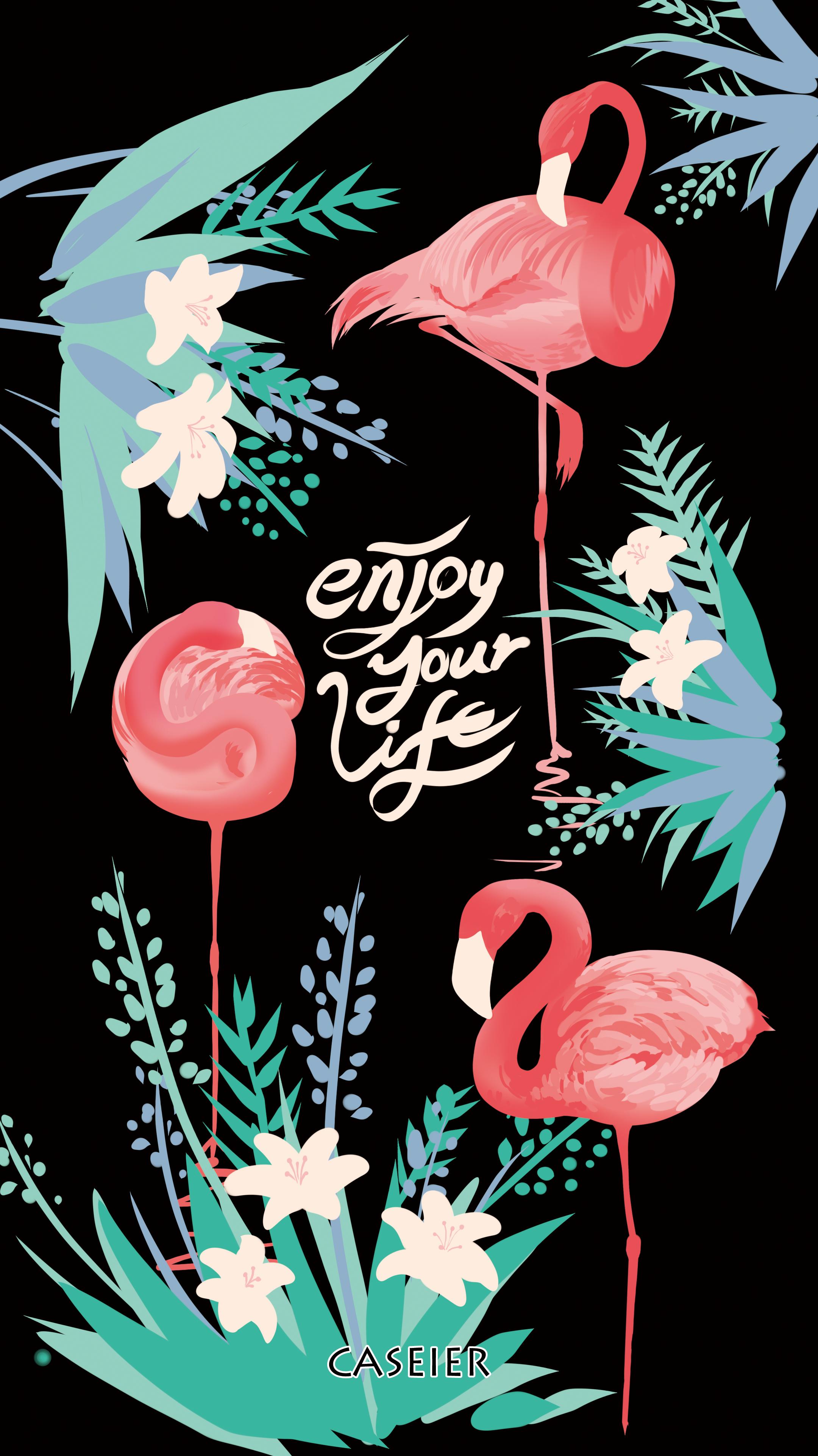 Cool Flamingo Seni Flamingo Latar Belakang