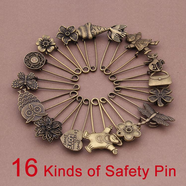 (Min Order 5$) 16 Kinds 1pcs/lot Bronze Plated Flower,Owl,Bird ,Heart Jewelry findings Safety Pin Hot Selling-in Jewelry Findings & Components from Jewelry & Accessories on Aliexpress.com | Alibaba Group