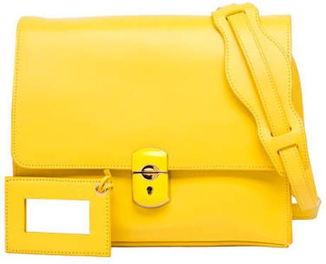 4712ce840d3 Balenciaga - Yellow Padlock All Day Shoulder Bag - Lyst