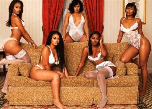 Black women in white lingerie  e98f6cd26