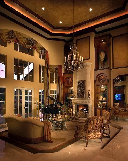 Mediterranean Living Room Ideas: Residential Interior Design, Home