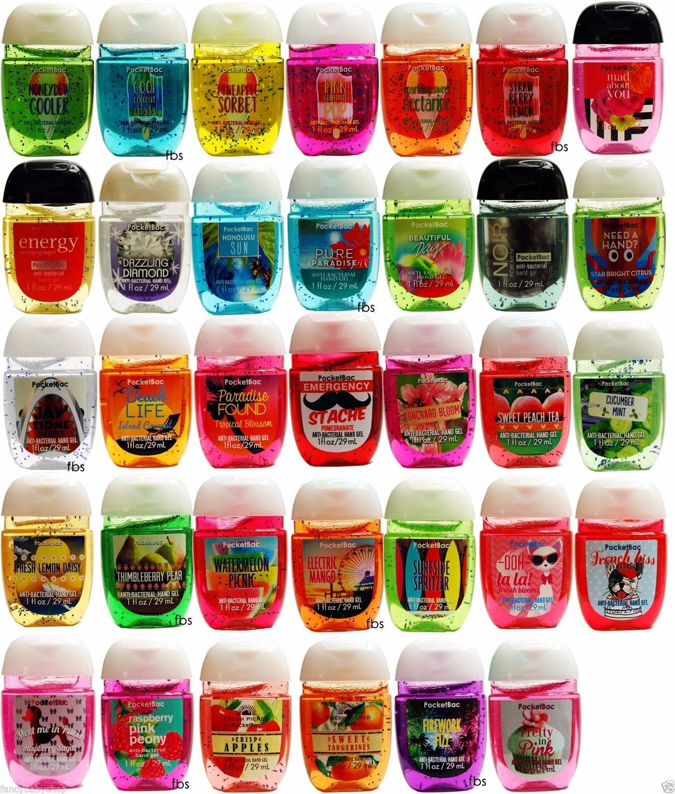 Details About Bath Body Works Pocketbac Lot Of 10 Random Mix