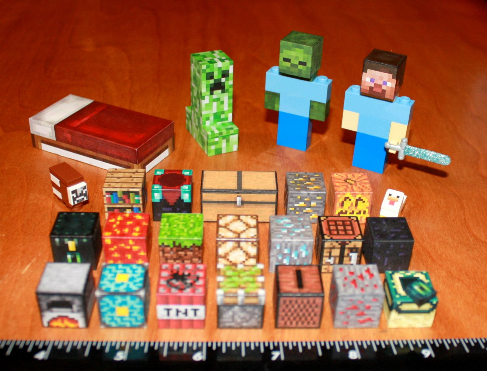 Minecraft Cake And Party Table Decorations Kids Birthday