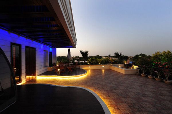 Awesome Contemporary Yellow Colored Outdoor Patio LED Lighting Ideas | Most  Beautiful Modern Patio Lighting Ideas