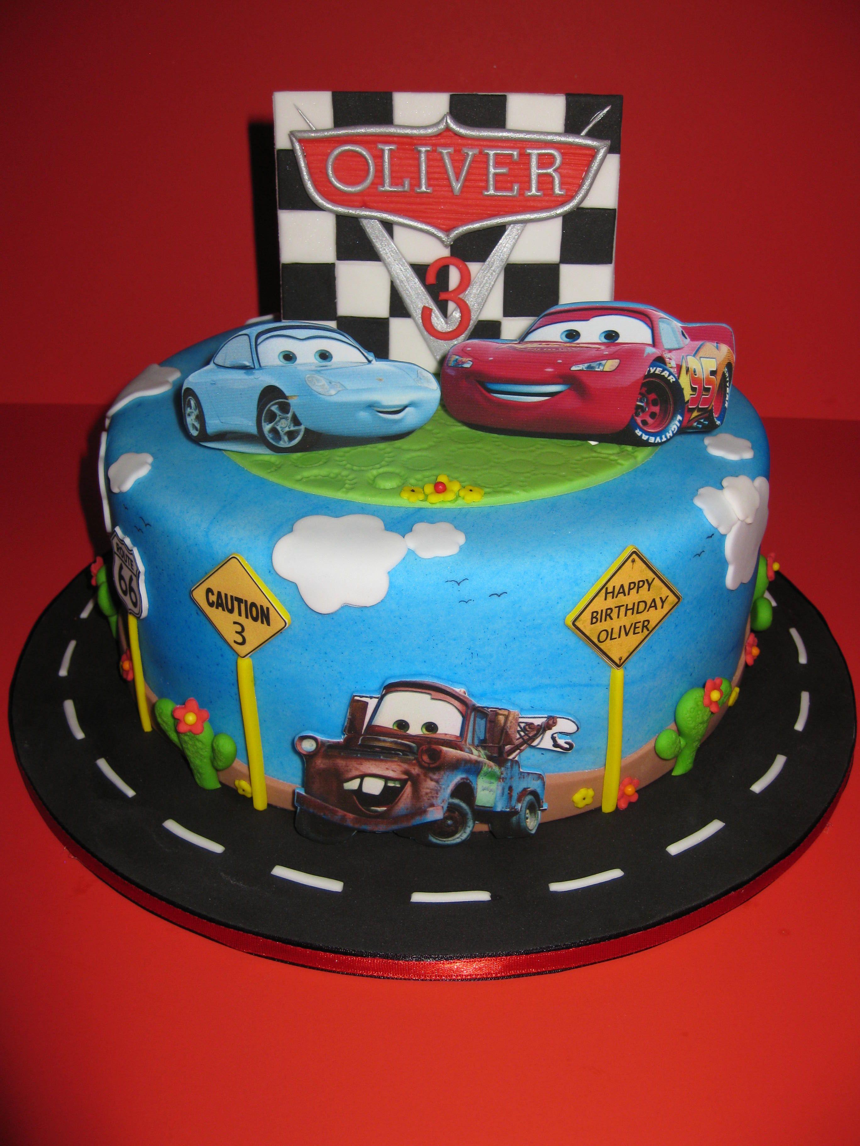 Disney Car S Birthday Cake