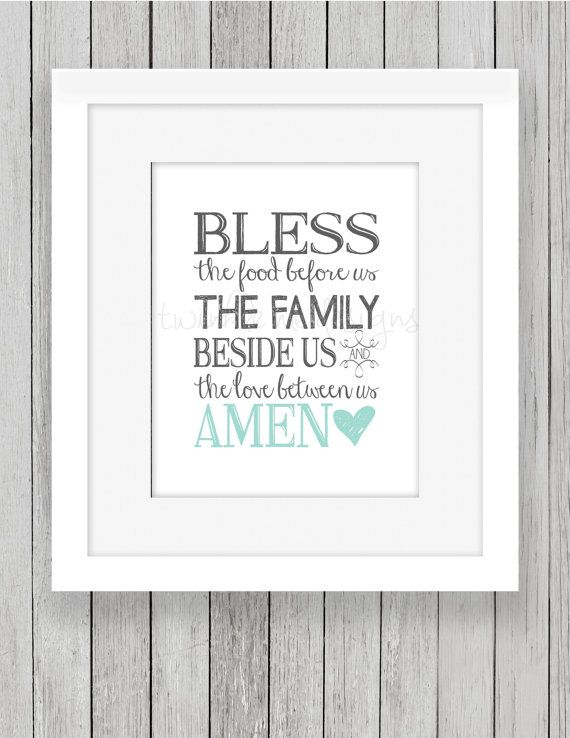 picture relating to Bless the Food Before Us Printable referred to as Bless The Food items Ahead of Us Print, Printable, Residence Decor Print