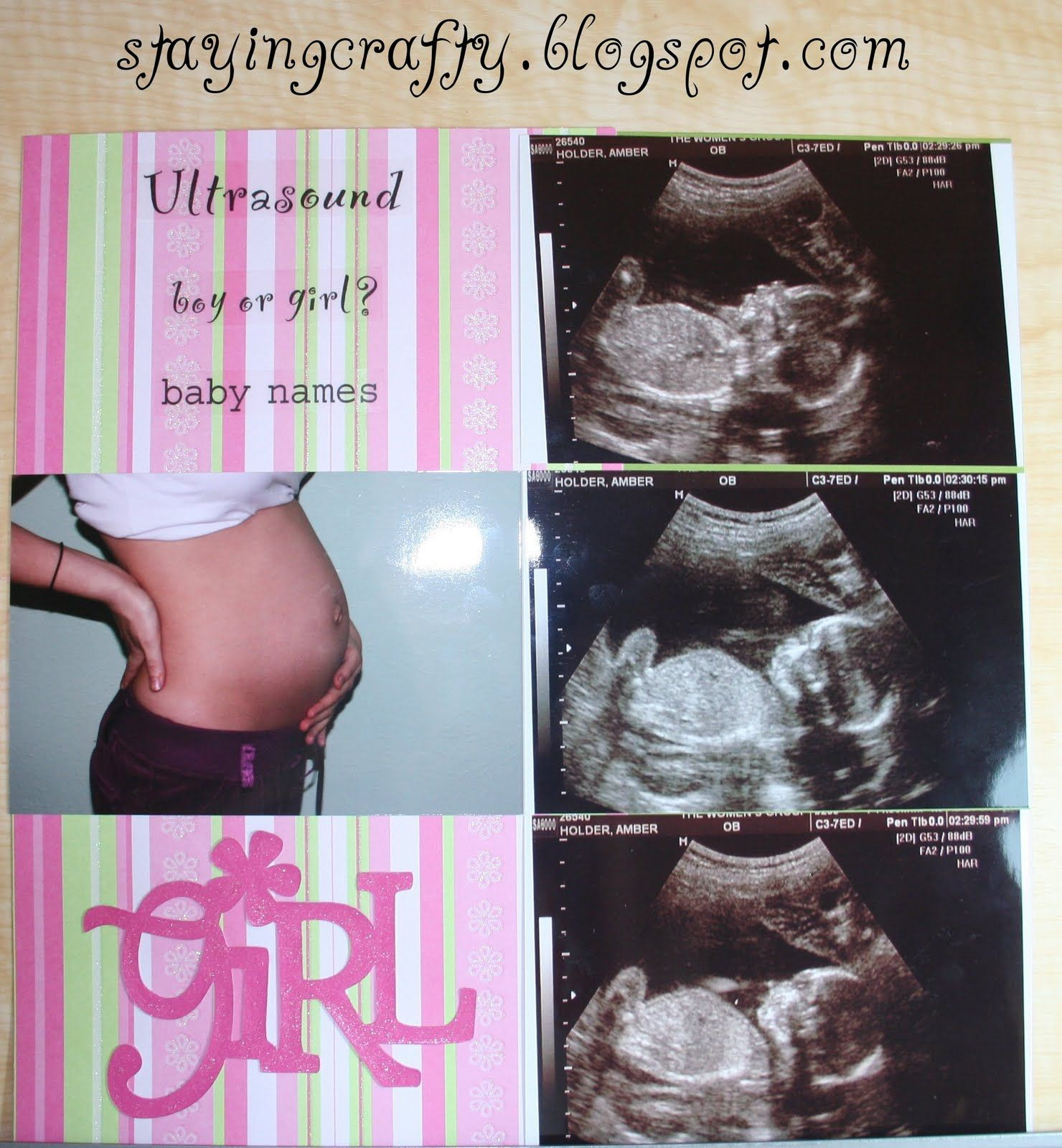 Scrapbook ideas newspaper articles - Baby Scrapbook Pages Ultrasound Scrapbook Page